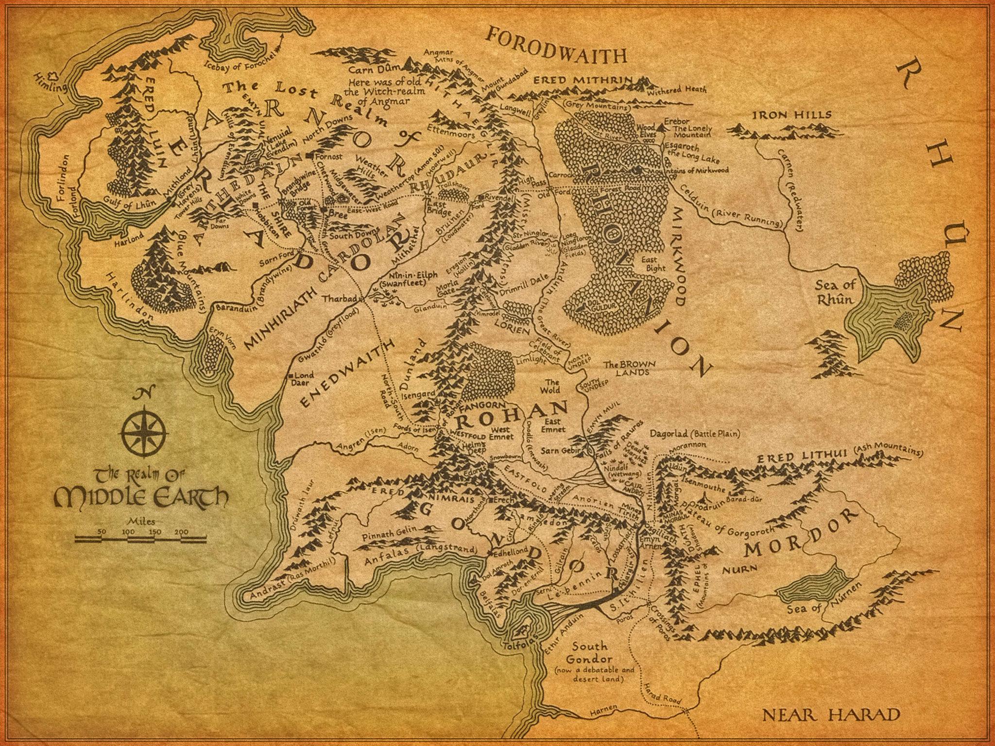 Mittelerde Karte Weg Gefährten