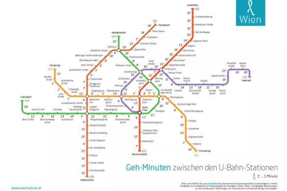 So groß sind die Abstände zwischen den Wiener Ubahn-Stationen