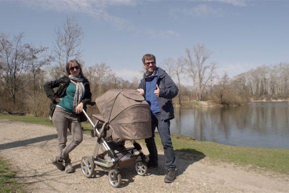 Unser Spaziergang mit Kinderwagen und Kreativem in der Lobau