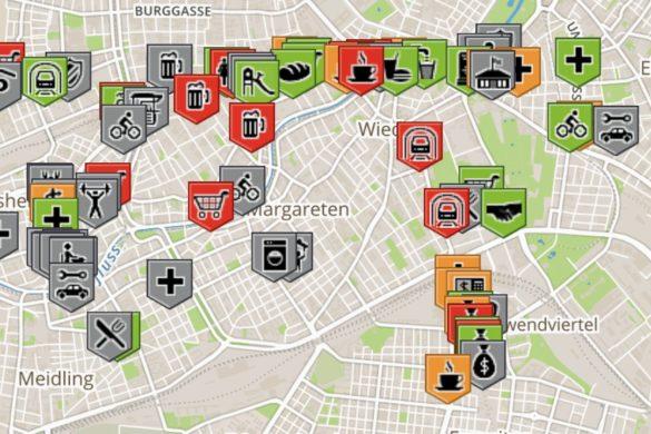 Diese Karte zeigt Euch, welche Lokale barrierefrei sind