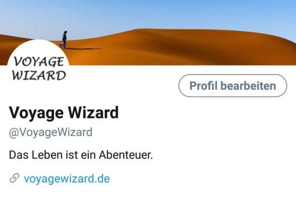 In eigener Sache: Voyage Wizard ist jetzt auch auf Twitter
