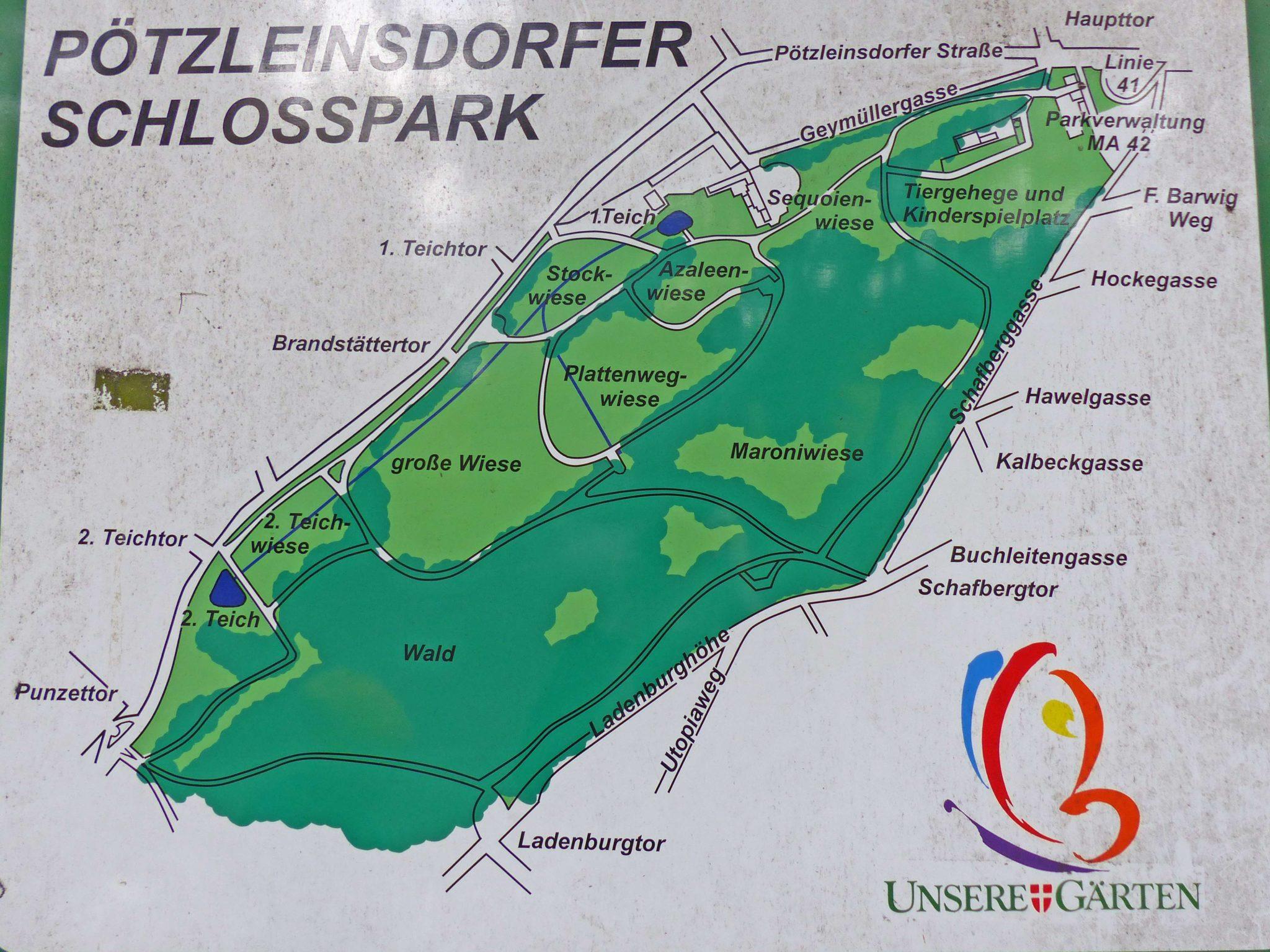 Schlosspark Pötzleinsdorf Karte